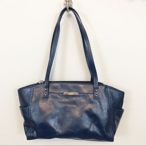 Relic by Fossil navy blue vegan leather handbag